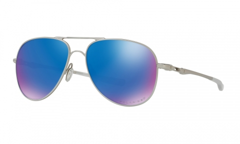Купить Солнцезащитные очки Oakley Elmont M Satin Chrome / Sapphire Iridium Polarized