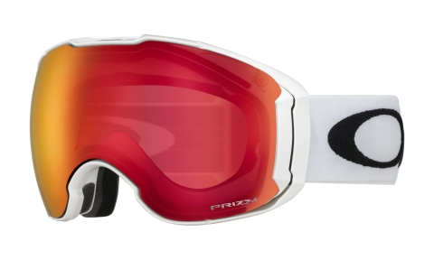 Купить Горнолыжная маска Oakley Airbrake XL Polished White / Prizm Torch Iridium & Prizm Rose