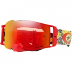 Купить Мотоциклетная маска Oakley FRONT LINE MX Dazzle Dyno Red-Yellow Dual /Prizm Tourch