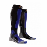 Купить Носки X-Socks SKI ALPIN Silver Black/Cobalt Blue