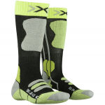 Купить Термоноски X-Socks Ski JR 4.0 Anthracite Melange/Green Lime