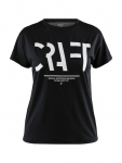 Купить Футболка Craft Eaze SS Logo Mesh Tee Woman BLACK
